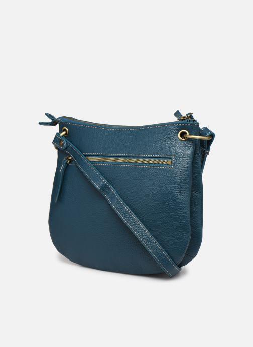 Handtaschen Hexagona WILD LEATHER CROSSBODY blau ansicht von rechts
