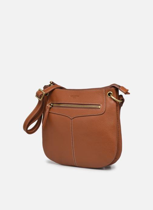 Handtaschen Hexagona WILD LEATHER CROSSBODY braun schuhe getragen