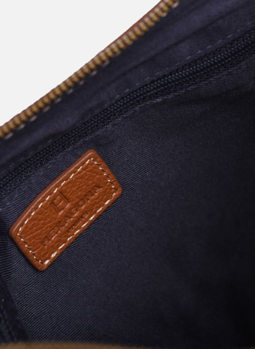Handtaschen Hexagona WILD LEATHER CROSSBODY braun ansicht von hinten