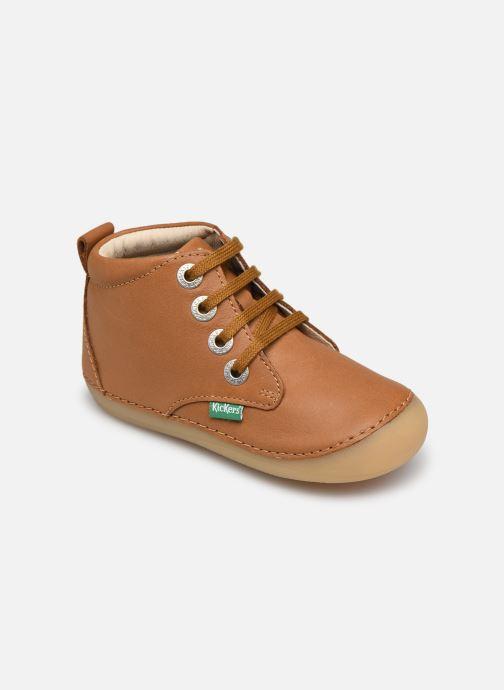 Bottines et boots Kickers Soniza Marron vue détail/paire