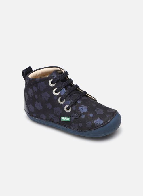 Bottines et boots Kickers Soniza Bleu vue détail/paire