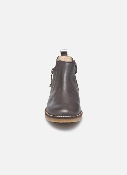 Stiefeletten & Boots Kickers Nykki grau schuhe getragen