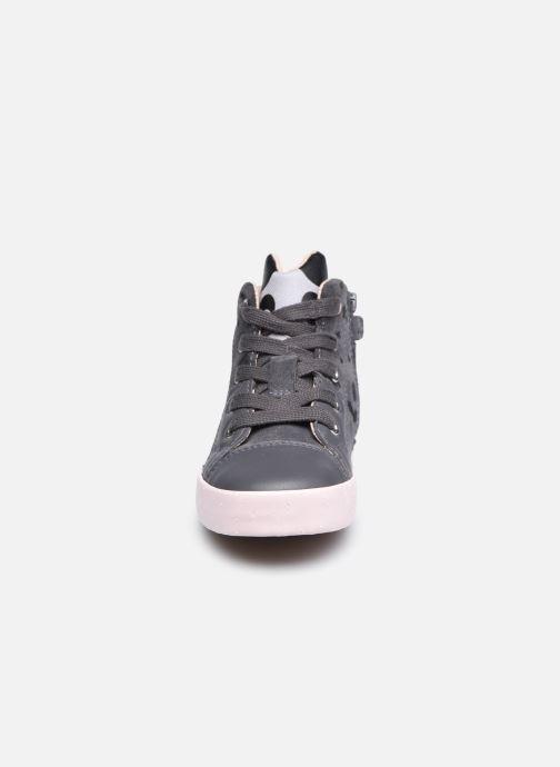 Sneaker Geox B Kilwi Girl B04D5C x WWF grau schuhe getragen