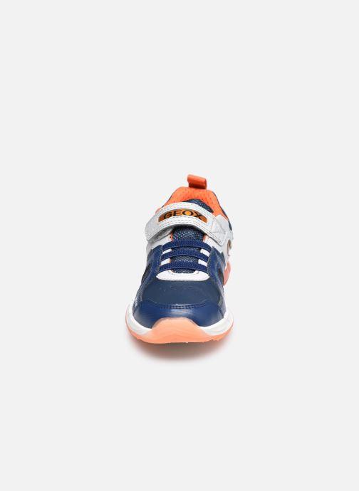 Sneaker Geox J Spaziale Boy J04CQA blau schuhe getragen