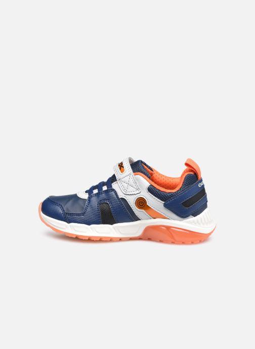 Sneaker Geox J Spaziale Boy J04CQA blau ansicht von vorne