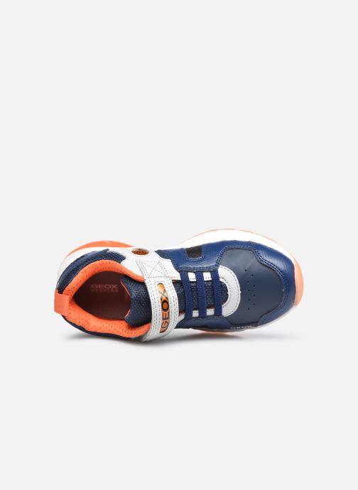 Sneaker Geox J Spaziale Boy J04CQA blau ansicht von links