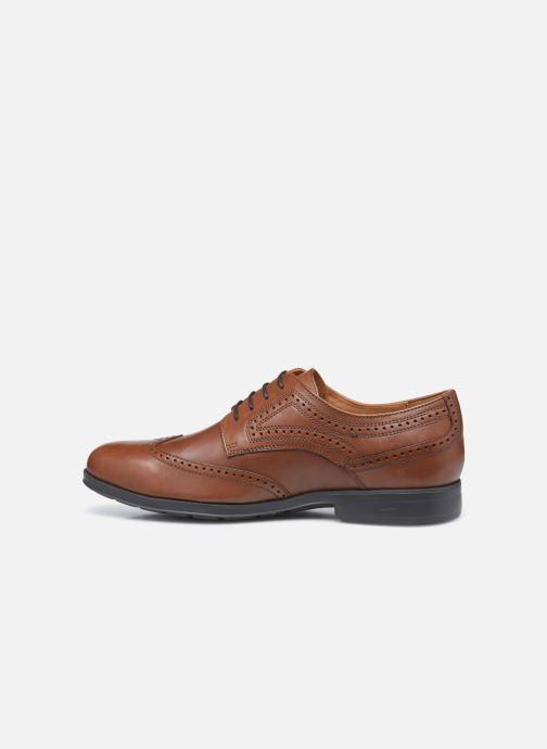 Zapatos con cordones Geox U HILSTONE WIDE Marrón vista de frente