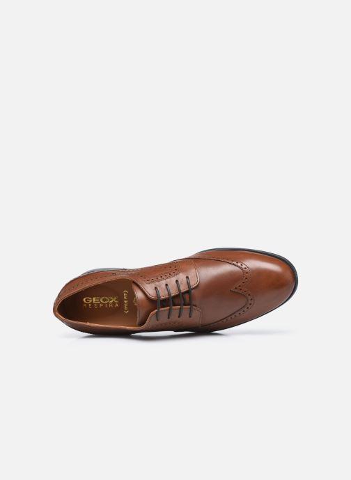 Zapatos con cordones Geox U HILSTONE WIDE Marrón vista lateral izquierda