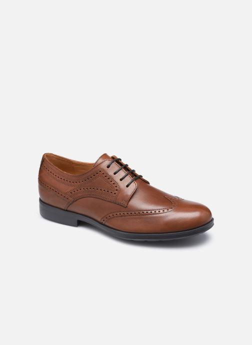 Zapatos con cordones Geox U HILSTONE WIDE Marrón vista de detalle / par