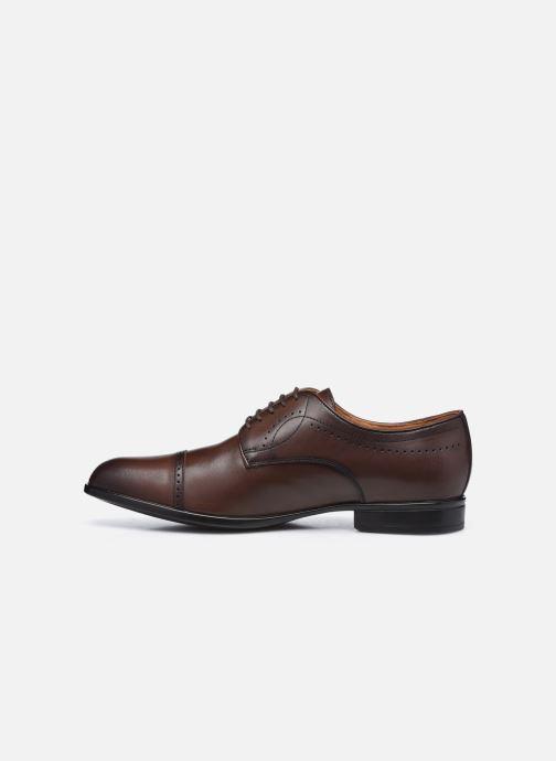 Chaussures à lacets Geox U IACOPO U049GC Marron vue face