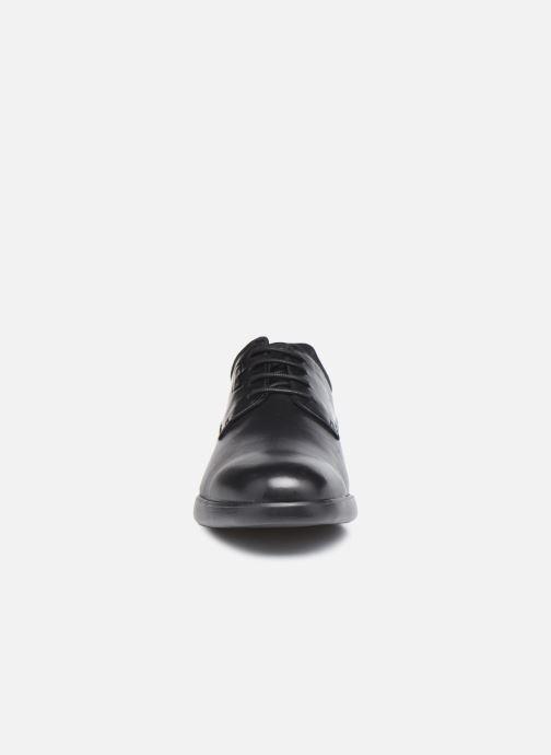 Schnürschuhe Geox U SMOOTHER F schwarz schuhe getragen