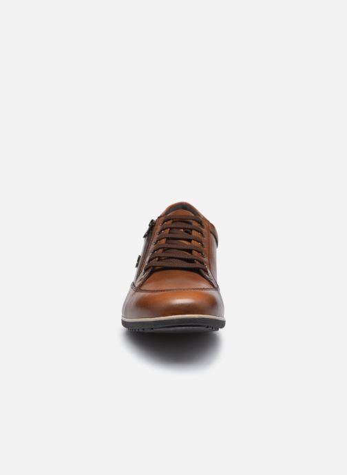 Sneaker Geox U TIMOTHY U046TC ZIP braun schuhe getragen