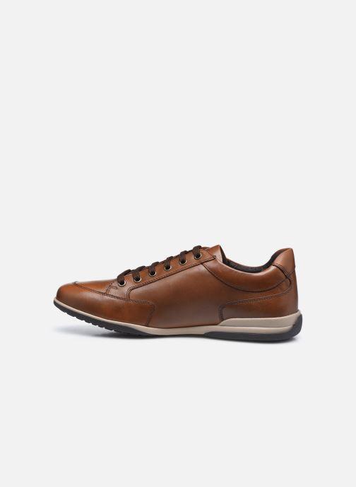 Sneaker Geox U TIMOTHY U046TC ZIP braun ansicht von vorne