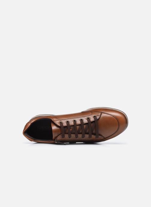 Sneaker Geox U TIMOTHY U046TC ZIP braun ansicht von links