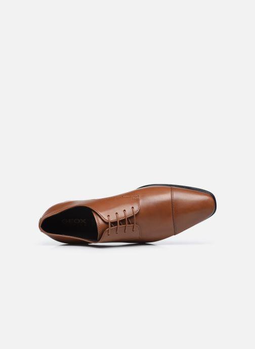 Chaussures à lacets Geox UOMO HIGH LIFE Marron vue gauche