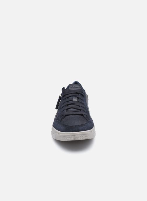 Baskets Geox U SEGNALE Bleu vue portées chaussures