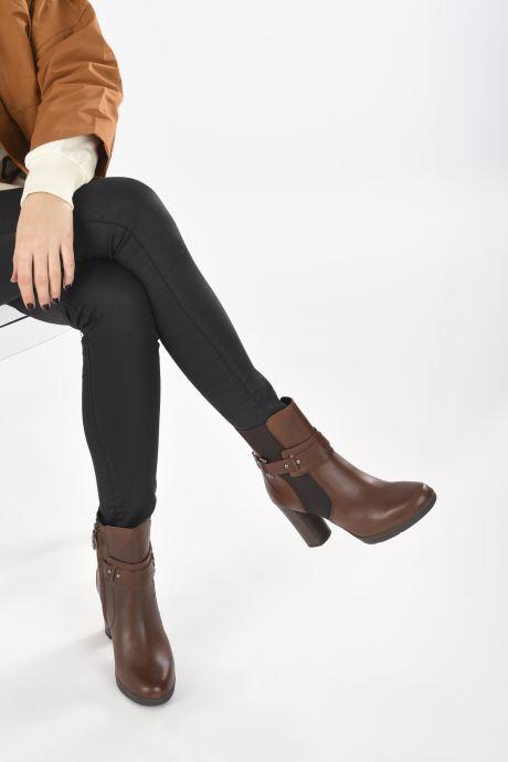 Stiefeletten & Boots Geox D ANYLLA HIGH D04LMB braun ansicht von unten / tasche getragen
