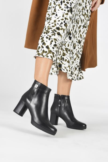 Stiefeletten & Boots Geox D ANYLLA MID schwarz ansicht von unten / tasche getragen
