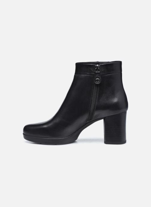 Bottines et boots Geox D ANYLLA MID Noir vue face