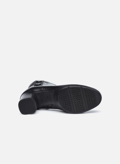 Stiefeletten & Boots Geox D ANYLLA MID schwarz ansicht von oben