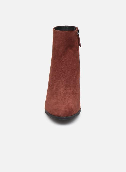 Stiefeletten & Boots Geox D CALINDA MID D04EFA weinrot schuhe getragen