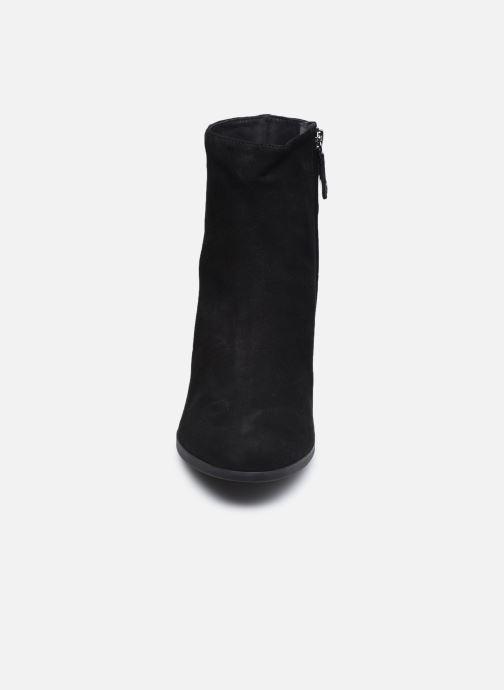 Bottines et boots Geox D CALINDA MID D04EFA Noir vue portées chaussures