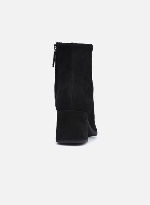 Bottines et boots Geox D CALINDA MID D04EFA Noir vue droite