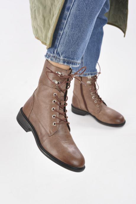 Stiefeletten & Boots Geox D CATRIA D04LQC braun ansicht von unten / tasche getragen