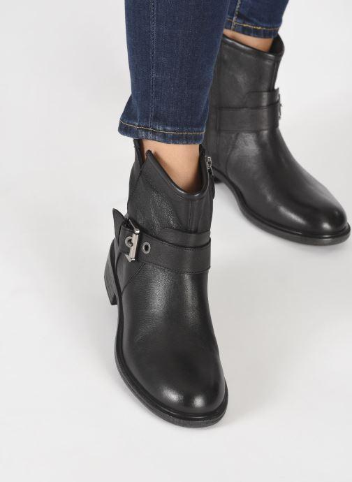 Bottines et boots Geox D CATRIA D04LQE Noir vue bas / vue portée sac