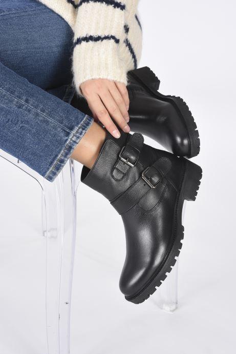 Stiefeletten & Boots Geox D HOARA D94FTG schwarz ansicht von unten / tasche getragen