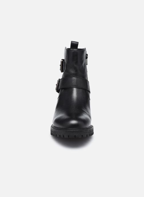 Bottines et boots Geox D HOARA D94FTG Noir vue portées chaussures