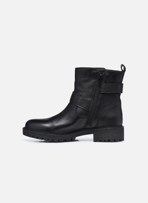 Bottines et boots Geox D HOARA D94FTG Noir vue face