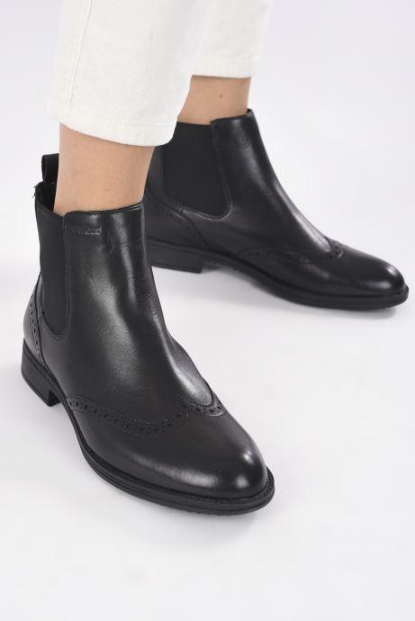 Stiefeletten & Boots Geox D JAYLON D04FYA schwarz ansicht von unten / tasche getragen