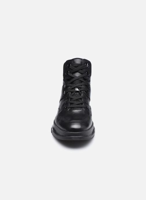 Sneaker Geox D MACAONE schwarz schuhe getragen