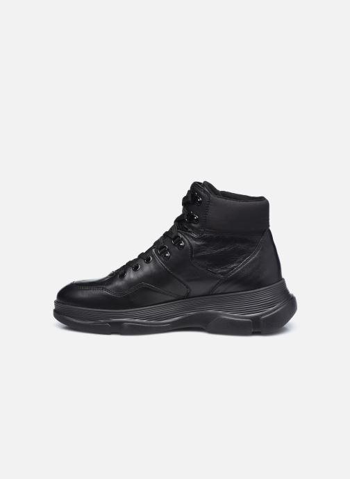Sneaker Geox D MACAONE schwarz ansicht von vorne