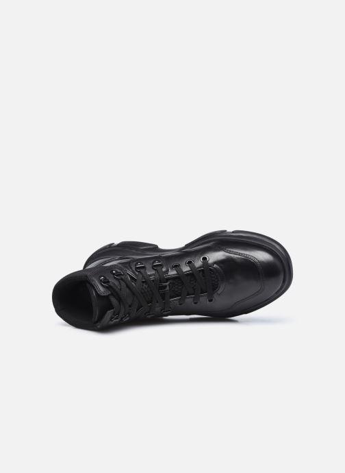 Sneaker Geox D MACAONE schwarz ansicht von links
