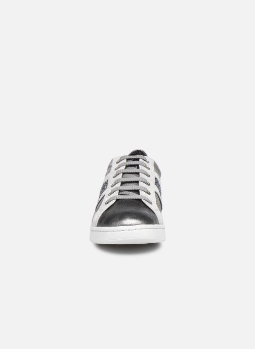 Sneaker Geox D JAYSEN D041BD022 grau schuhe getragen
