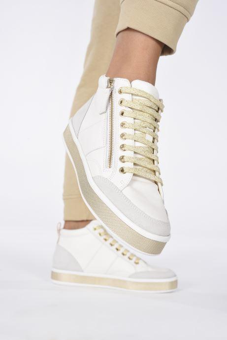 Sneaker Geox D LEELU D94FFG08522 weiß ansicht von unten / tasche getragen