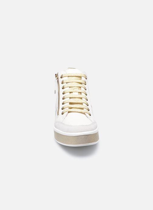 Sneaker Geox D LEELU D94FFG08522 weiß schuhe getragen