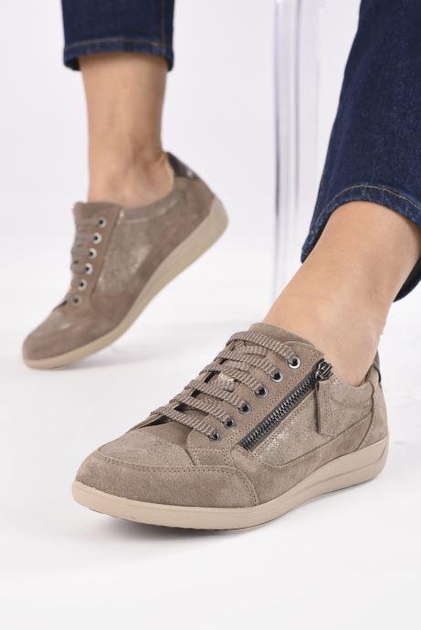 Sneaker Geox D MYRIA D6468A braun ansicht von unten / tasche getragen