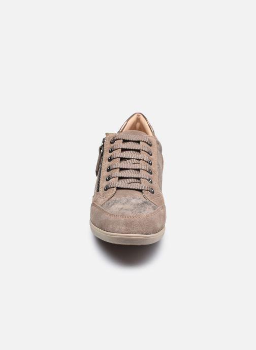 Sneaker Geox D MYRIA D6468A braun schuhe getragen
