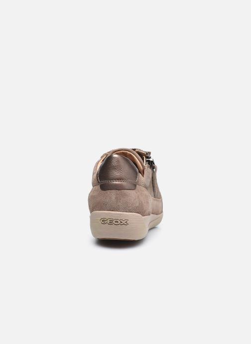 Sneaker Geox D MYRIA D6468A braun ansicht von rechts