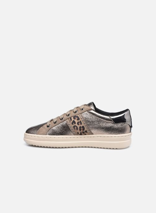 Sneaker Geox D PONTOISE D04FEG silber ansicht von vorne