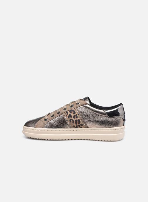 Sneakers Geox D PONTOISE D04FEG Zilver voorkant