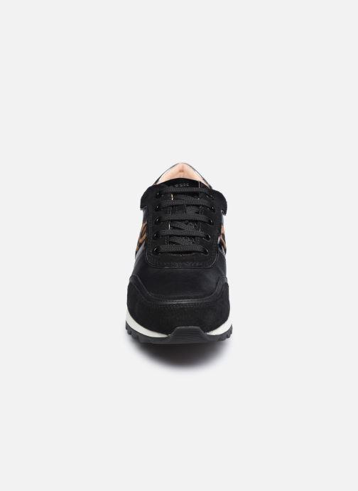 Sneaker Geox D TABELYA D04AQB022 schwarz schuhe getragen