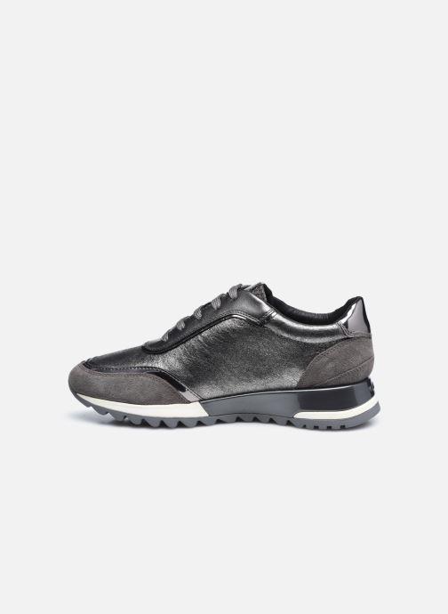 Sneaker Geox D TABELYA D94AQA022 silber ansicht von vorne