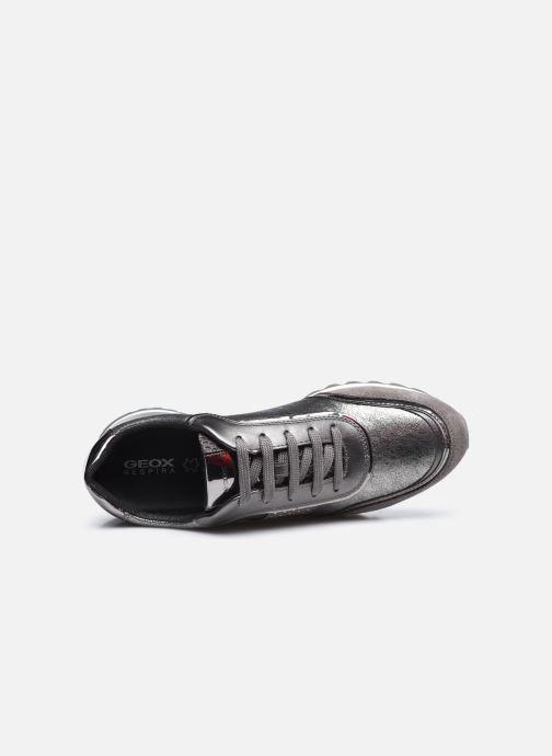 Sneaker Geox D TABELYA D94AQA022 silber ansicht von links