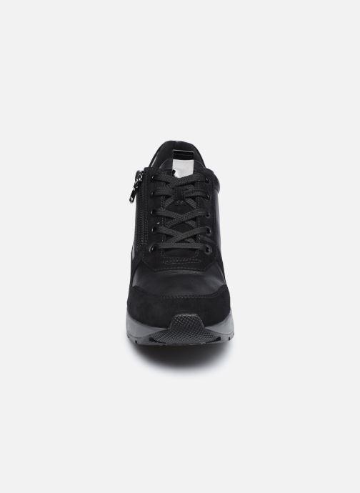 Sneaker Geox D ZOSMA D048LB schwarz schuhe getragen