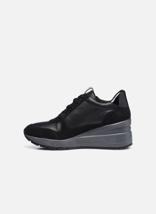Sneaker Geox D ZOSMA D048LB schwarz ansicht von vorne