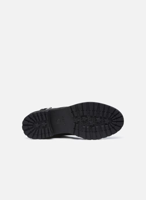 Stiefeletten & Boots Geox D HOARA FTE schwarz ansicht von oben